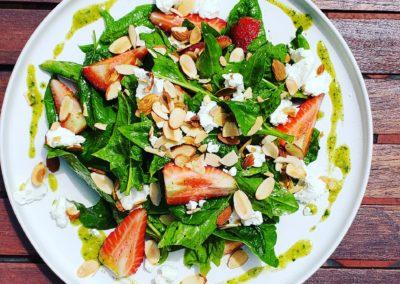 local strawberry salad